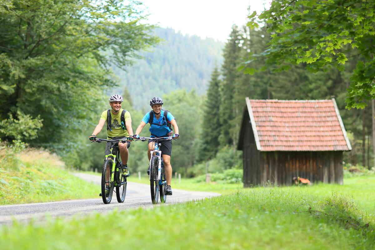 Biken auf dem Enztal Radweg