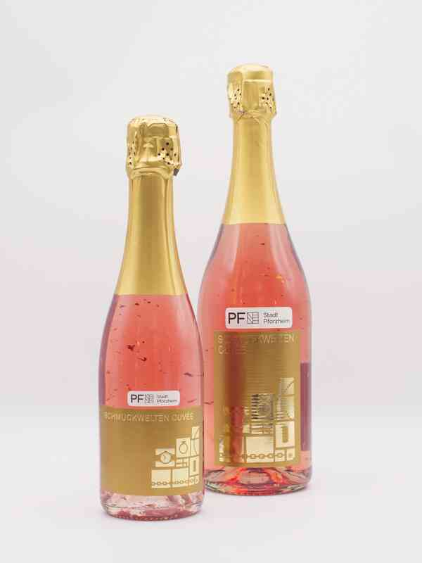 Rosé Sekt mit 22 Karat Blattgold
