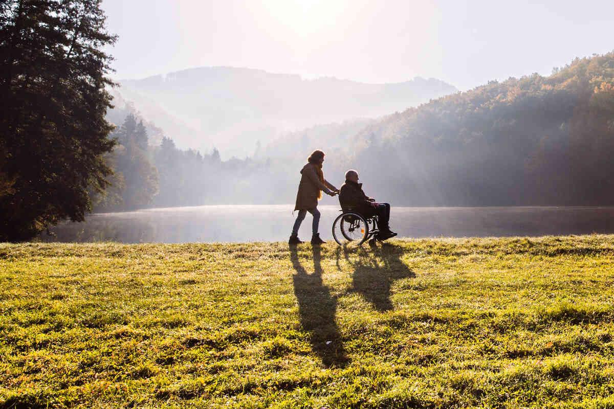 Wandern mit Rollstuhl